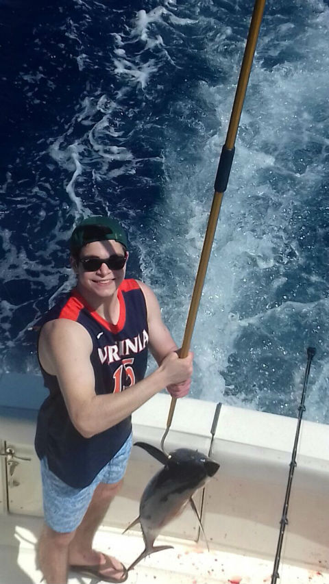 tuna fishing in quepos water